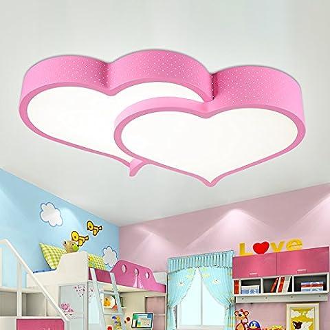 LbcvhStanza dei bambini cartoon soffitto LED lightsThe le camere sono calde e i ragazzi e le ragazze delle luci di camera da letto Creative luna stella cartoon splendidi figli da soffitto LED luce L58*W42*H12CM