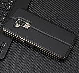 Owbb Hülle für Bluboo S8 Handyhülle Hard Plastik PU Ledertasche Flip Cover Tasche Hülle Case mit Stand Function Retro Klapphülle Design Schwarz