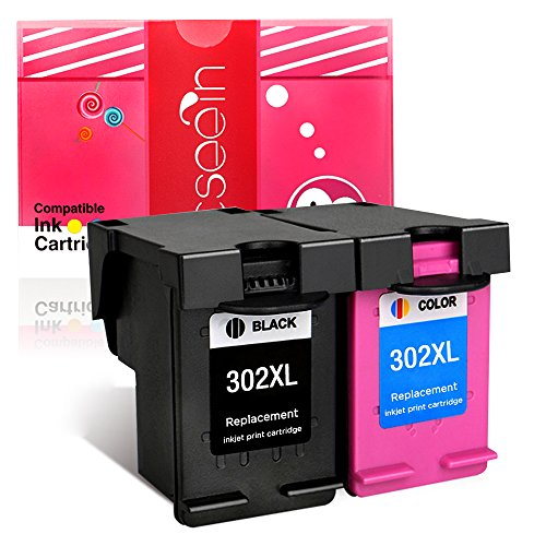 Cseein rigenerata hp 302xl cartucce di inchiostro 2pk (1 black,1 tri-color)