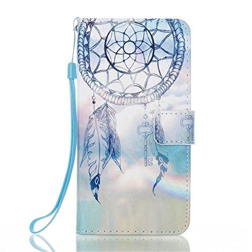 Für Samsung Galaxy J7V/J7perx/J7Sky Pro/J7Prime/J72017/Galaxy Halo Fall, matop Luxus PU Leder Flip Schutzhülle Case Cover mit kartenfächer, Light Color Ornaments -
