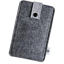 Filz-Tasche in Grau für Apple Iphone SE, Hochwertige Handy-Hülle, Schutz-Cover mit Herausziehband und Drucknopf, reißfestes Schutz-Etui - XS Dealbude24