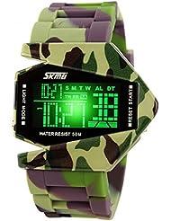 MaMaison007 Super Cool reloj impermeable agua deporte reloj LED Digital