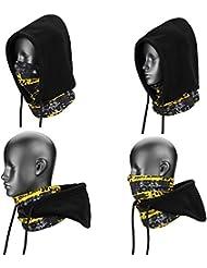 SehrGo 4 in 1 Unisex Face Cover Fleece Hood Mask Balaclava Hat, Soft Thermal Warm Wind Proof Neck Warmer Face Mask, for Men, Women,Kids,Boys,Girls Snowboarding, Ski, Motorcycle, Bike, Winter Sports