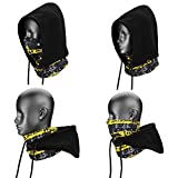 4 in 1 Face Cover Kapuze Maske Balaclava Hat, Kapuze Schleier Thermo Warm Wind Proof, Neck Warmers SehrGo Face Maske und Fleece Mütze, für Snowboard, SWAT, Ski, Motorrad, Winter Sport (Schwarz)