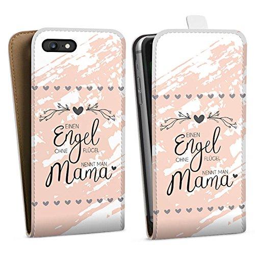 Apple iPhone 4s Hülle Case Handyhülle Muttertag Spruch Mama Downflip Tasche weiß