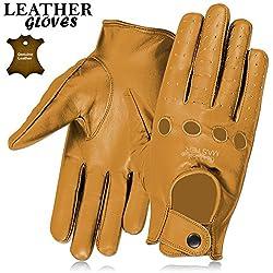 Guantes para hombre d piel, para el invierno, disponible en 3 colores, negro, marrón y tostado