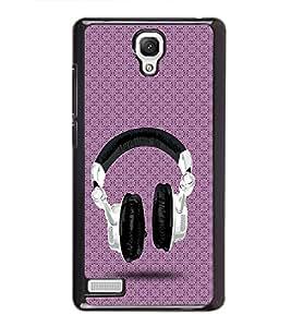 PrintVisa Floral Music Love High Gloss Designer Back Case Cover for Xiaomi Redmi Note :: Xiaomi Redmi Note 4G