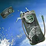 JTENG 2 litri Sacca idrica, sacchetto per l'acqua, per zaino da montagna arrampicata ciclismo campeggio viaggio trekking con un tubo 100cm,