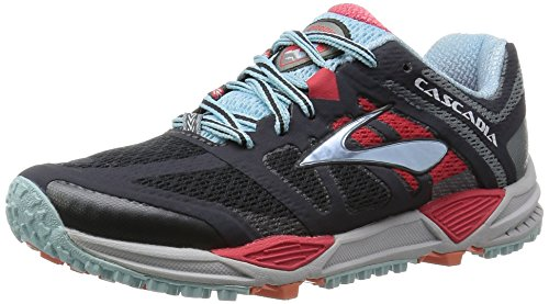 Brooks Cascadia 11 - 120204 1B 005 - Zapatillas de Running para Asfalto Mujer, color gris (Anthracite/Hibiscus/Crystalblu 005), talla 36..5 EU (4 UK)