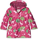 Hatley Printed Raincoats, Impermeable Bambina, Red (Pony Orchard), 5 Anni