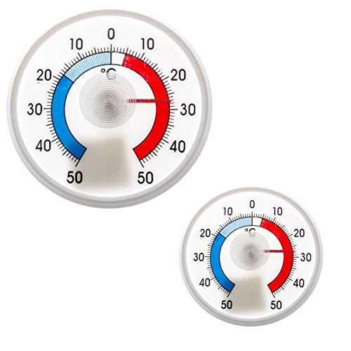 SIDCO Kühlschrankthermometer 2 Stück Kühl Thermometer für Kühlschrank analog