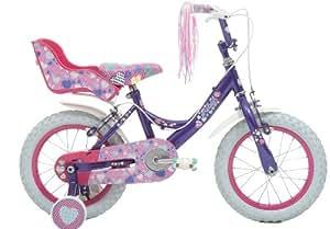 """Raleigh Krush 14"""" Girls Bike in Purple"""