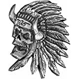 Pin de S épinglette cabeza de muerte indio Apache para chaleco y chaqueta