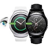 3 x PROTOMAX Bildschirmschutzfolie für Samsung Galaxy Gear S2 / Gear S2 classic Schutzfolie, Bildschirmschutz Zubehör Smartwatch / Wearable / Fitnesstracker, Screen Protector, 3er Pack