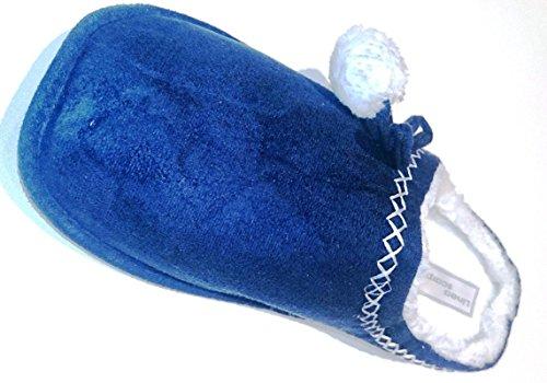 linea-scarpa-restposten-reductions-pantoufle-chaud-avec-fausse-fourrure-tux-femme-bleu-femme-38-39-e