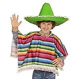 Poncho mejicano multicolor para niño