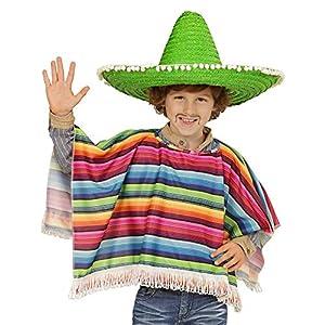WIDMANN Poncho mejicano multicolor para niño