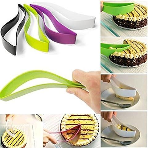 Lsv-8alimentaire Pain gâteau trancheuse Sheet serveur gâteau de coupe Cutter Gadget de Cuisine (Vert)