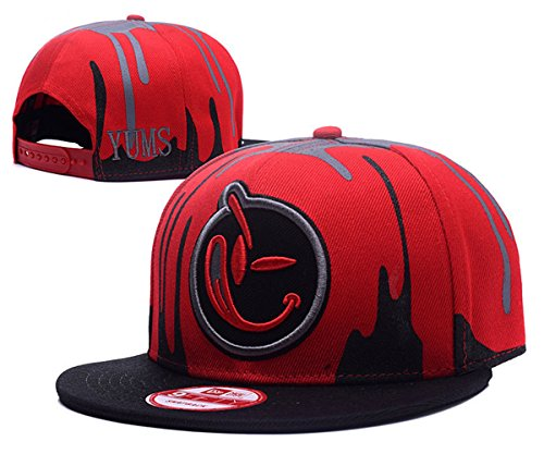 yums-classic-comfort-snapback-hat-adjustable-fashion-cap-red-2-one-size