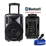 """Fenton Portable PA System Active Speaker Battery Powered Bluetooth & UHF Microphone 10"""""""