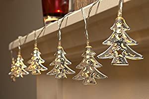 Set Of 15 Battery Operated Indoor Christmas Tree LED string Lights