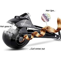 Beautigo Boucleur à cheveux automatique chauffant, céramique et affichage numérique à LED