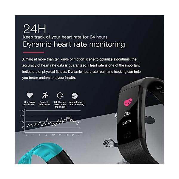 YILON Pulsera Actividad Fitness Tracker Pulsera Inteligente Reloj Fitness Podómetro Monitor de Ritmo cardíaco IP67… 10