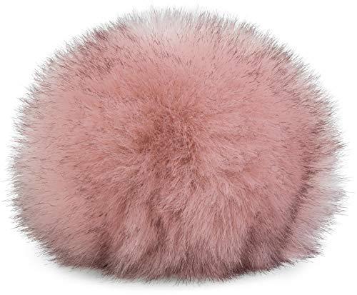 styleBREAKER Kunstfell Bommel für Mützen und Beanies, Fake Fur, Winter Fellbommel 04024161, Farbe:Rose