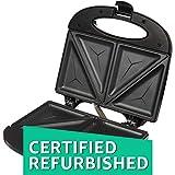 (Certified REFURBISHED) Solimo Non-Stick Sandwich Maker (750 watt, Black)