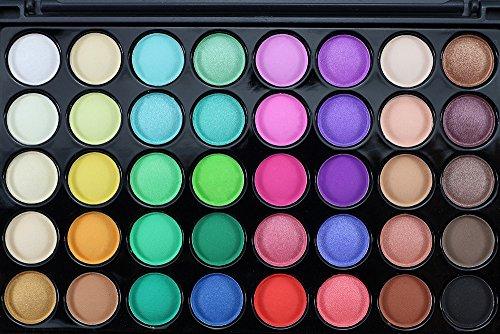 40 Farben Kosmetik Puder Lidschatten-Palette Make-up Set Matt verfügbar