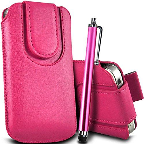 Vert/Green - LG Joy Housse et étui de protection en cuir PU de qualité supérieure à cordon avec fermeture par bouton magnétique et écouteurs intra-auriculaires de 3,5 mm assortis par Gadget Giant® Rose Baby & Stylus Pen