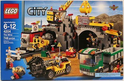 LEGO-4204-City-The-Mine-mine-drill-truck-and-crane-by-Lgp