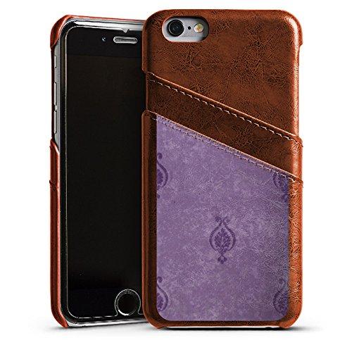 Apple iPhone 5s Housse Étui Protection Coque Ornements Papier peint Abstrait Étui en cuir marron