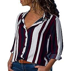 MORCHAN ◕‿◕ Chemisier Tops Sweat Cardigan Manteau Blouson T-Shirt à Manches Longues à Manches Longues à Manches Longues(FR-50/CN-4XL,Rouge)