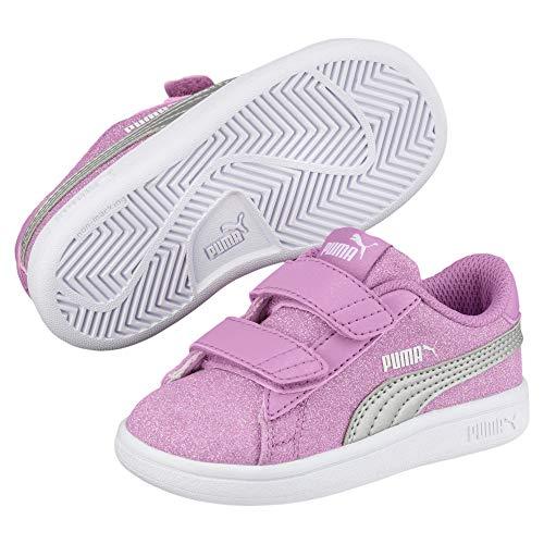 d2a036616886a Puma Chaussure bébé Smash V2 Glitz Rose