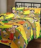 Radha Rani Summer Speacial Chota Bheem Polycotton Multicolor Reversible Dohar for Single Bed Ac Blanket for Home