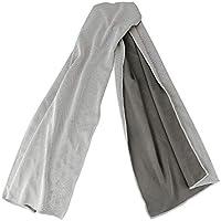 Jia Hu Mikrofaser-Handtuch, schnellkühlend, sehr saugfähig und atmungsaktiv, für Fitnessstudio, Yoga, Wandern, Golf, Grau