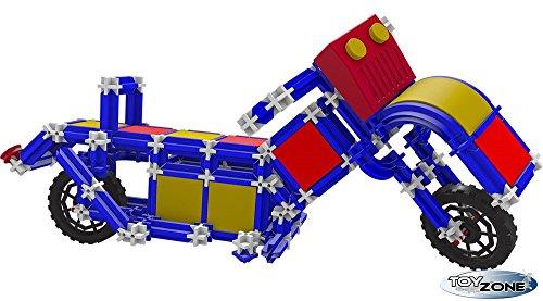 Unbekannt Seva Steckbaukasten Motorrad 432 Teile Stecksystem Motorikspielzeug Steckspiel