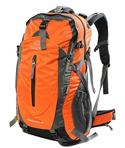 Sacchetti esterni di alpinismo 40L uomini borsa da viaggio zaino e le donne che guidano borsa con parapioggia ( Colore : Arancia , dimensioni : 40L ) Arancia