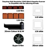 """7dayshop High Resolution Portable Film Scanner 22MP Scan Slides and Negatives 35mm, Super 8mm, 110 Film, 126 Film. Colour 2.4"""" LCD Screen with 16GB SDHC Card Bild 6"""