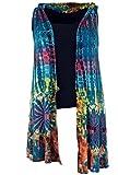 Guru-Shop Batik Tunika. Boho Westen Tunika, Sommertunika, Maxitunika, Damen, Petrol, Synthetisch, Size:42, Boho Jacken, Westen Alternative Bekleidung