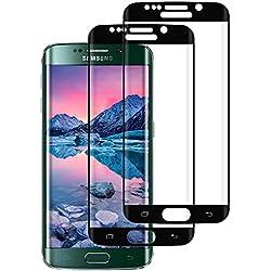 DOSMUNG Film de Protection d'écran pour Samsung Galaxy S6 Edge, Galaxy S6 Edge en Verre Trempé [Lot de 2], Anti Rayures, Ultra Résistant, Haute sensibilité, Installation Facile, Dureté 9H Glass