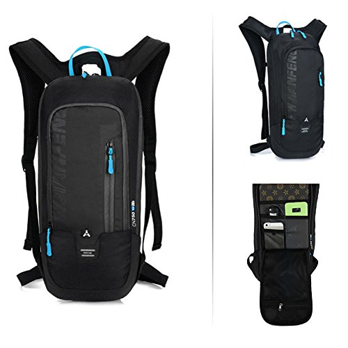 Bikeing Backpack 10L ,Mini Riding Backpack, Waterproof Lightweight Mountain Cycling Backpack, Breathable Shoulder Bag for Running Hiking Climbing Cycling Outdoor Sport (black)