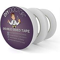 DIY Doctor 3 Rouleaux Multi-Usages Ruban Adhésif Double Face Adhésif pour Artisanat, Photos, Papier Peint Scrapbooking…