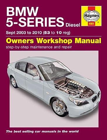 Diesel BMW SÉRIE 5E60et E61Haynes Manuel 2003–2010