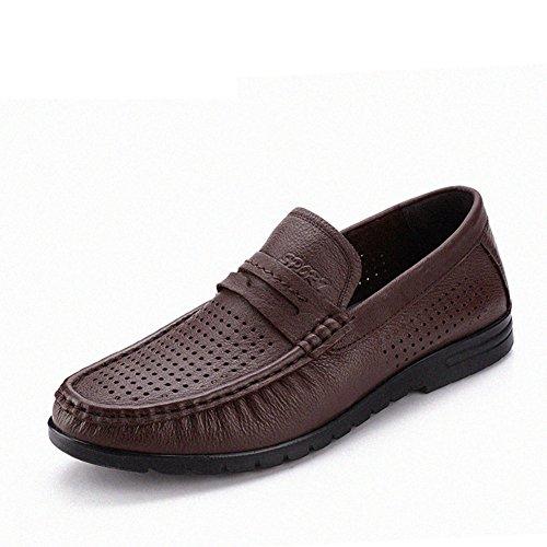 Business cuoio estate sandali uomo/Scarpe Baotou/Middle hollow e vecchi uomini