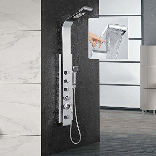 304Edelstahl Draht Zeichnen, Multifunktions-Badezimmer, Dusche-, Brause-Set (1300x 200x 460mm)