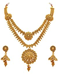 BFC - Buy For Change Traditional Copper With One Gram Gold Plated Gold Multilayer Necklace Set For Women's