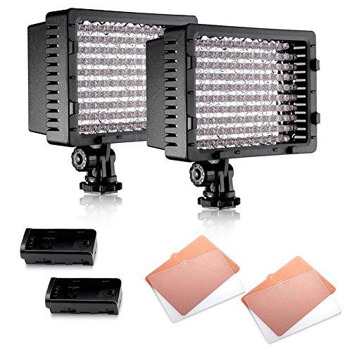 Neewer 126 LED Licht CN-126 Dimmbares Ultra Hochleistung Panel Digitalkamera / Camcorder Videoleuchte, LED-Licht für Canon, Nikon, Pentax, Panasonic, Sony, Samsung und Olympus DSLR(2 stück)