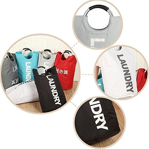 Light Grey Foldable Heavy-duty Laundry Basket Waterproof Bag